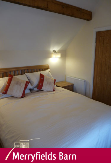 Double bedroom at Merryfields Barn