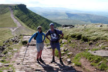 Nearing the top of Pen-y-fan in the Brecon Beacons