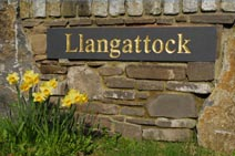 The nearby village of Llangattock